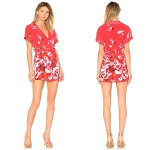 La Jolla Mini Shirt Dress Red Cascade Floral XXS
